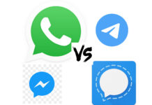 WhatsApp vs Telegram vs Signal vs Messenger 1