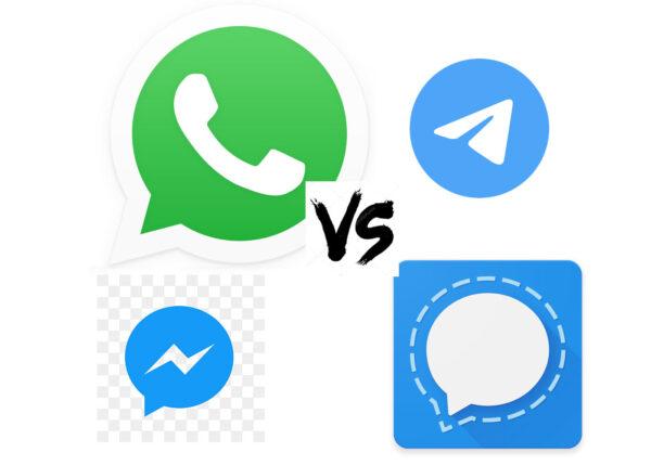 WhatsApp vs Telegram vs Signal vs Messenger 1