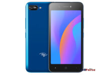 itel A35 in gradient blue