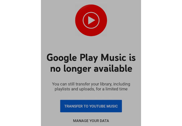 Google Play Music Finally Discontinued