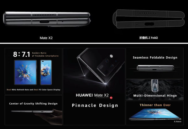 Huawei Mate X2 design and specs