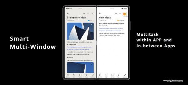 Huawei Mate X2 running HarmonyOS