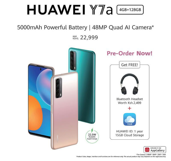 Huawei Y7a launched In Nigeria Ghana and Kenya 3