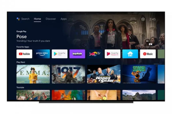New Android TV interface