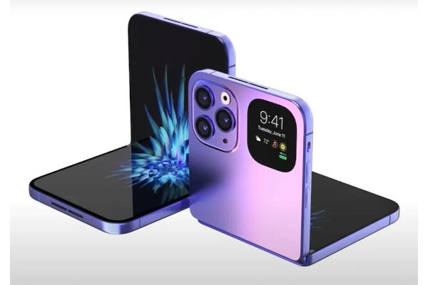 Renders OF Foldable iPhone iPhone Flip Appears