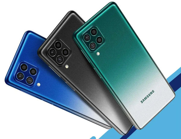 Samsung Galaxy M62 in colors