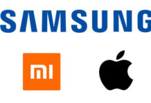 Samsung Xiaomi and Apple