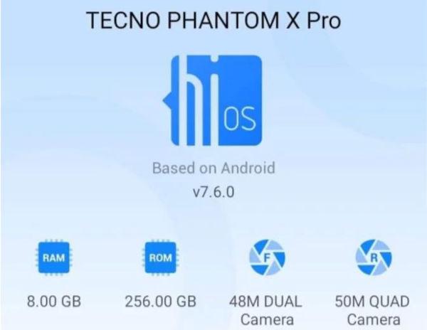 Tecno Phantom X details leaks 1