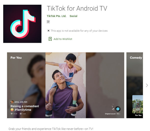 TikTok Now Available On Android Tv