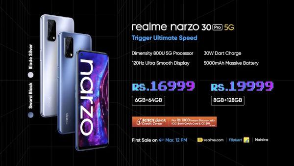 realme Narzo 30 Pro price