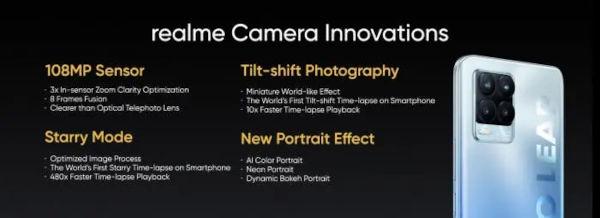 Details Of Realme 8 Pro 108MP Camera