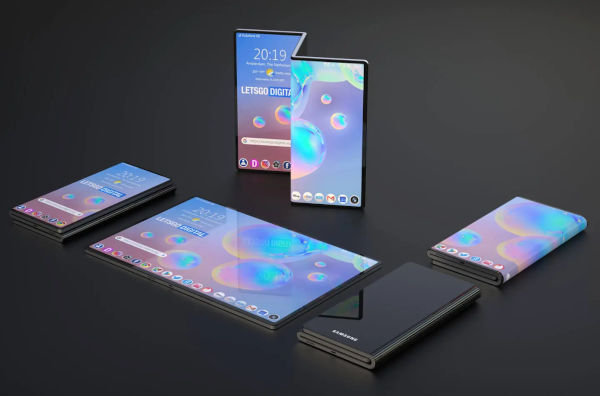 First Samsung Dual Fold Smartphone Revealed