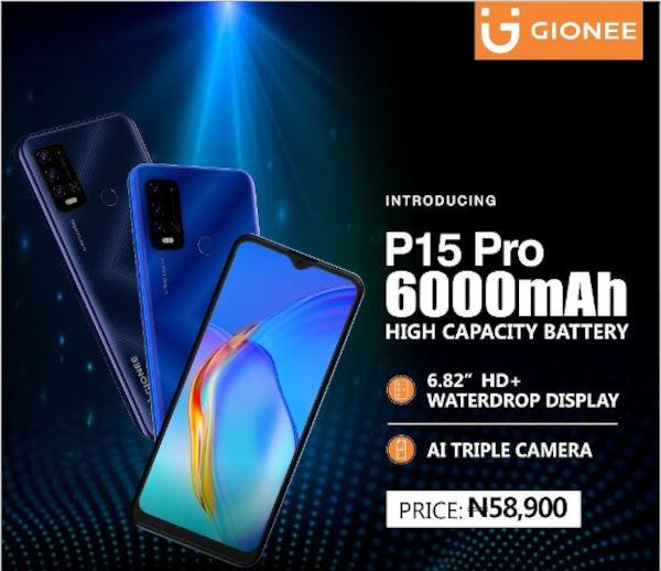 Gionee P15 Pro Price in Nigeria
