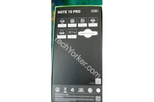 Infinix Note 10 Pro retail box leaks 2