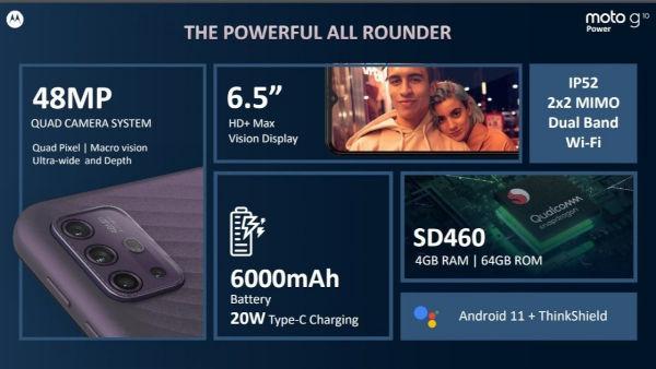 Moto G10 Power specs
