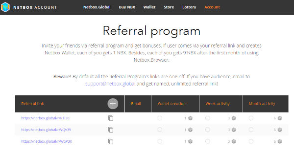 Netbox browser gets you free NBX Crypto coin 3