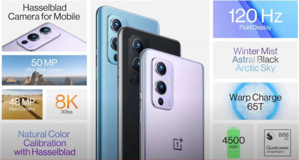 OnePlus 9 specs and features