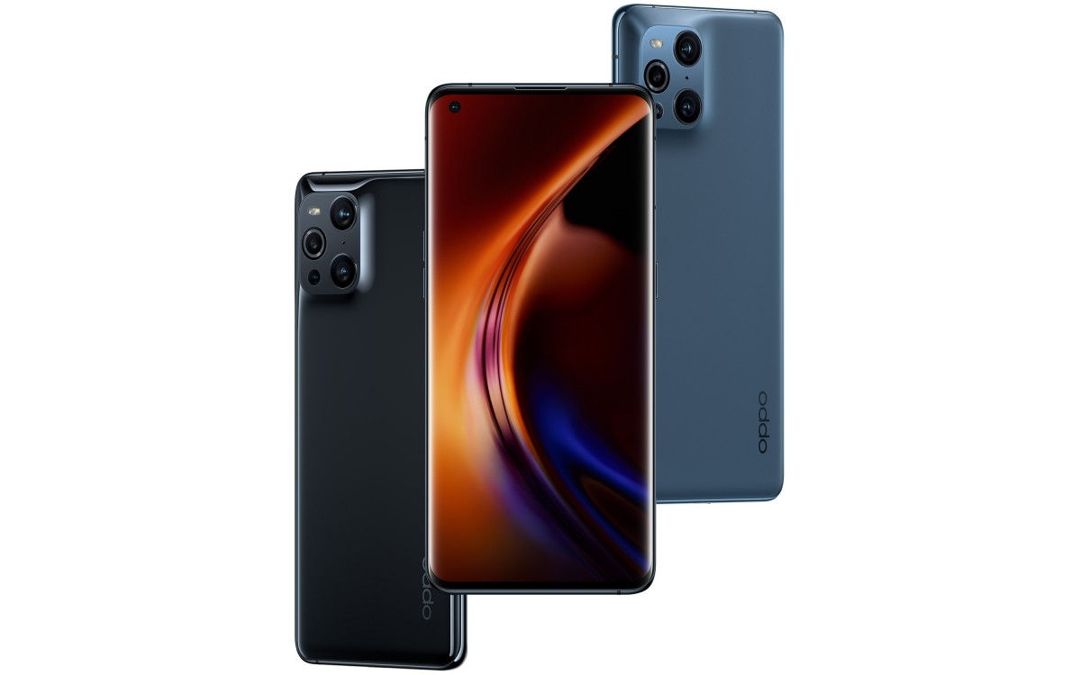 Oppo Find X3 Pro in colors