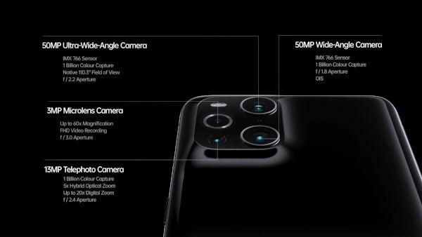 Oppo Find X3 cameras details