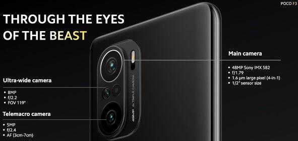 POCO F3 cameras