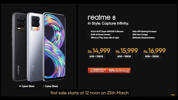 Realme 8 Prices