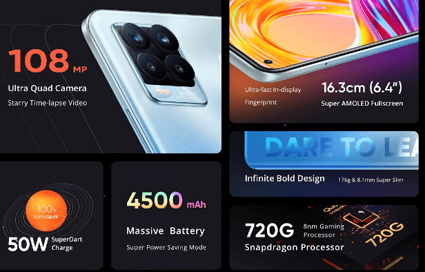 Realme 8 Pro specs and features