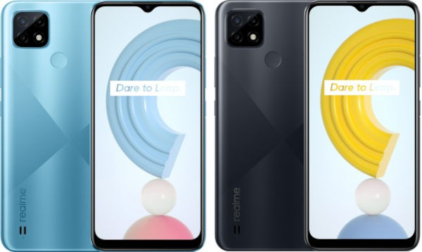 Realme C21 in colors