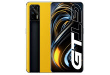 Realme GT 5G in Dawn Yellow