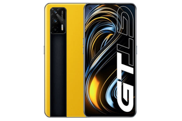 Realme GT 5G in Dawn Yellow