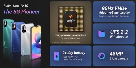 Redmi Note 10 5G specs