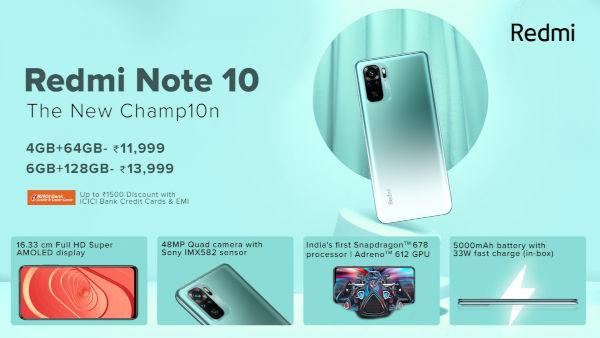 Redmi Note 10 Price