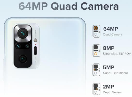 Redmi Note 10 Pro India cameras