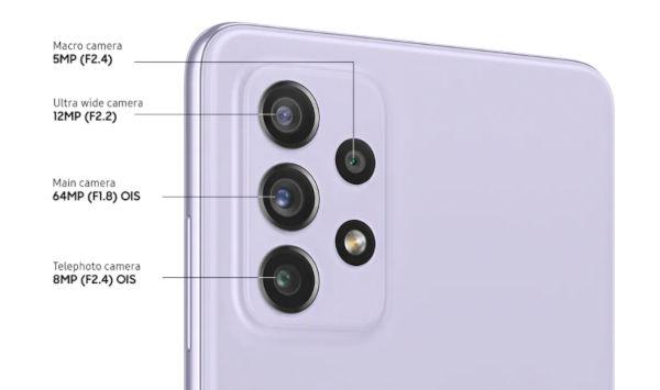 Samsung Galaxy A72 cameras
