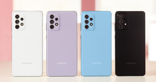 Samsung Galaxy A72 in colors