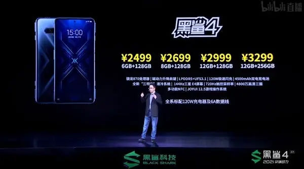 Xiaomi Black Shark 4 Price