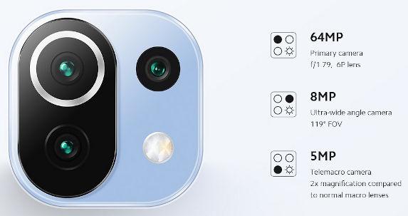 Xiaomi Mi 11 Lite 4G cameras