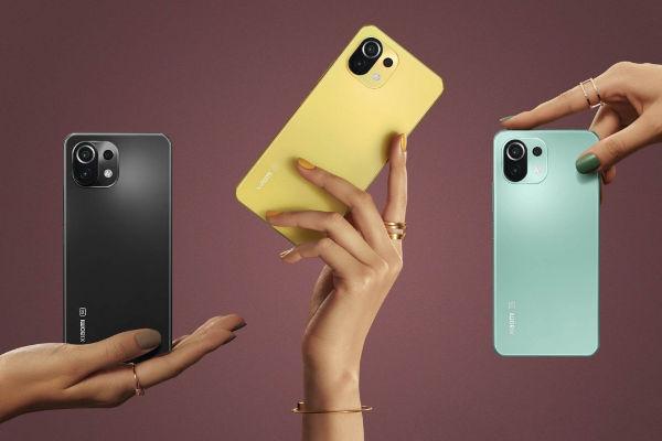 Xiaomi Mi 11 Lite 5G in colors