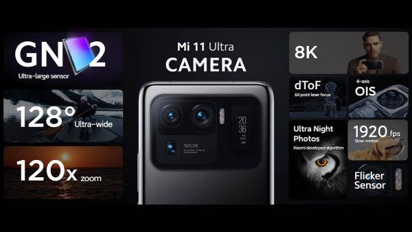 Xiaomi Mi 11 Ultra camera features