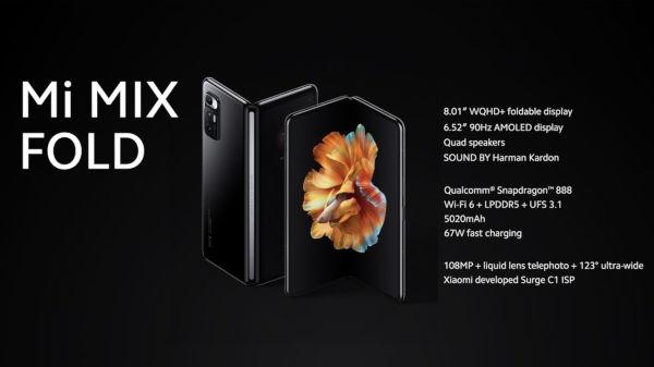 Xiaomi Mi Mix Fold launched