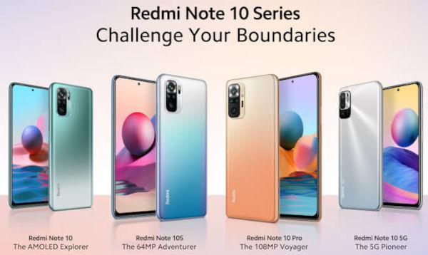 Xiaomi Redmi Note 10 series goes global