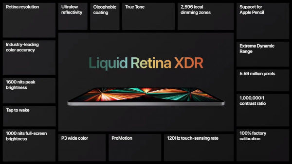 Apple iPad Pro 2021 Liquid Retina XDR display