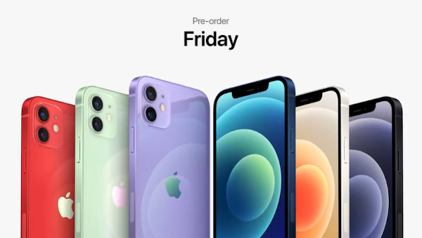 Apple iPhone 12 in colors
