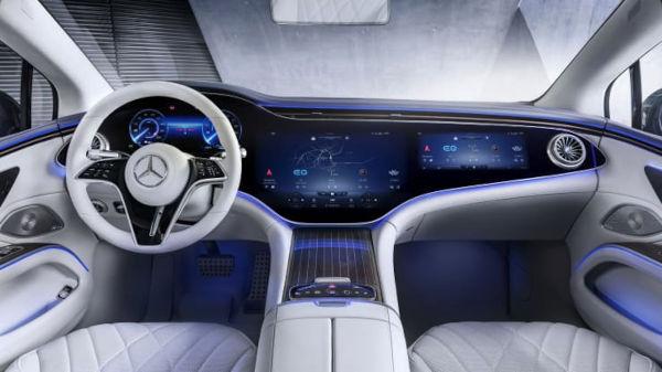 Mercedes Benz 2022 EQS Electric Vehicle dashboard