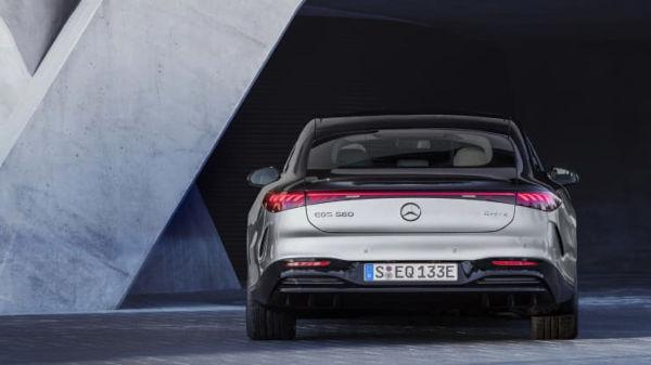 Mercedes Benz 2022 EQS Electric Vehicle rear