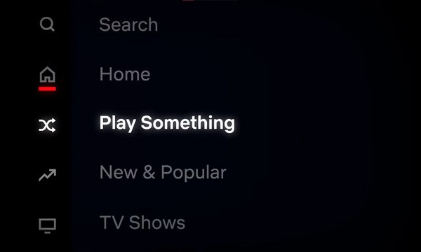 Netflix Play Something Button