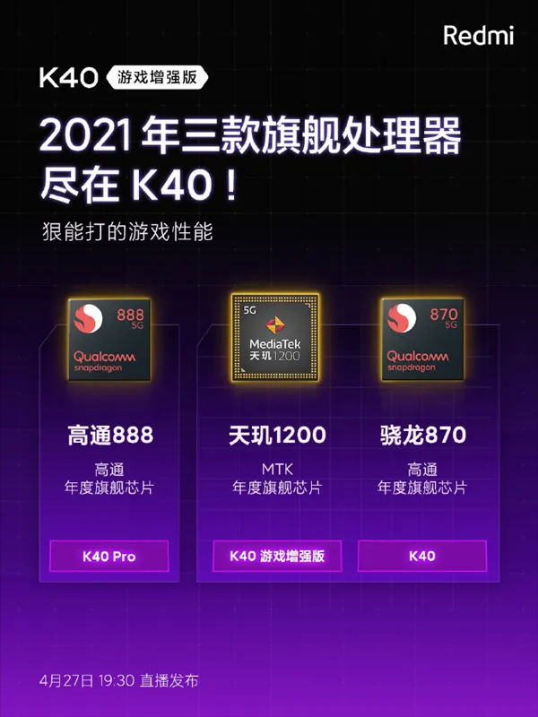 Redmi brands offers smartphones with all three most powerful chips