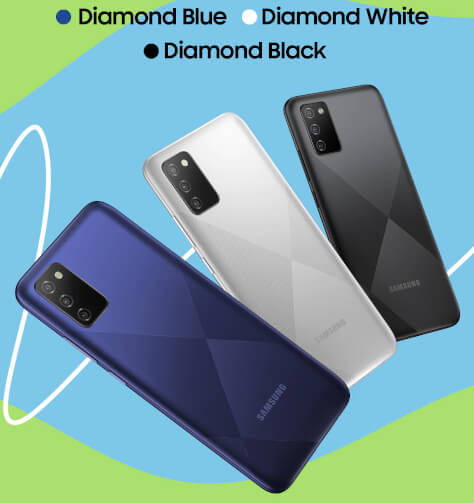Samsung Galaxy F02s in colors