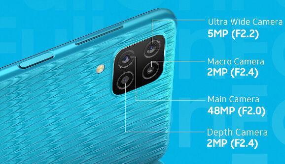 Samsung Galaxy F12 cameras