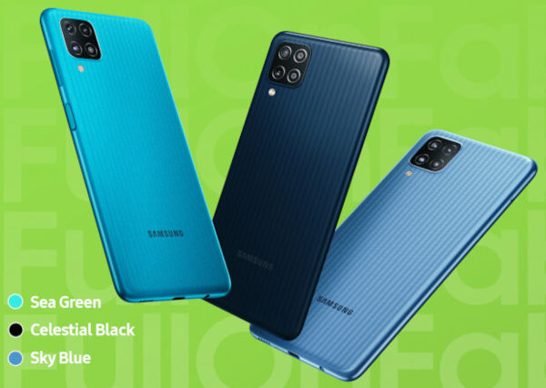 Samsung Galaxy F12 in colors