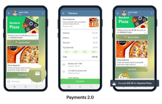 Telegram gets Payments 2.0